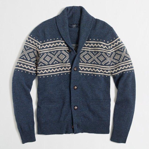 Fair Isle shawl-collar cardigan sweater # #cardigan #sweater ...