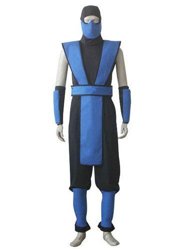 Sub Zero tabard// Mortal KOmbat cosplay costume// blue scorpion tabard