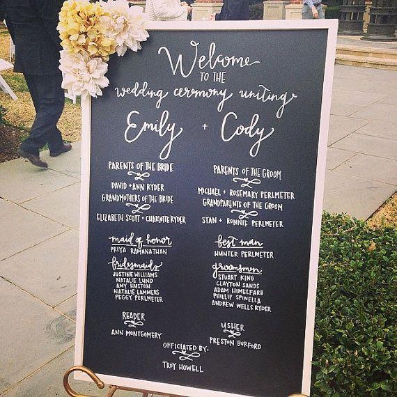 Wedding Chalkboard 23x35 Program