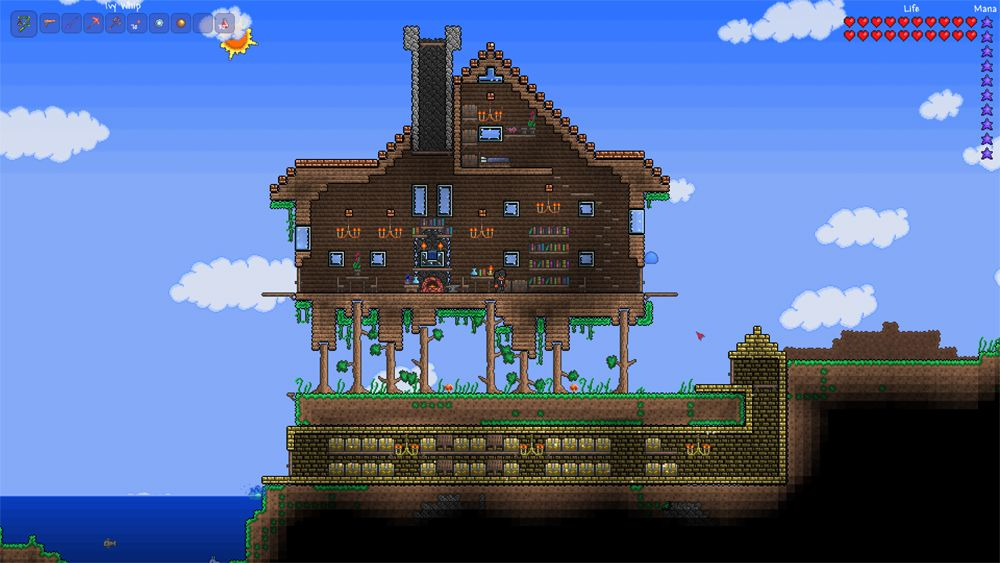 Terraria best house design terraria pinterest houses for Terraria house designs
