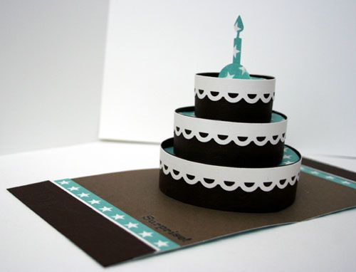 Sizzix 3D cake Cards Pinterest Cards, Birthdays and Big shot - birthday cake card template