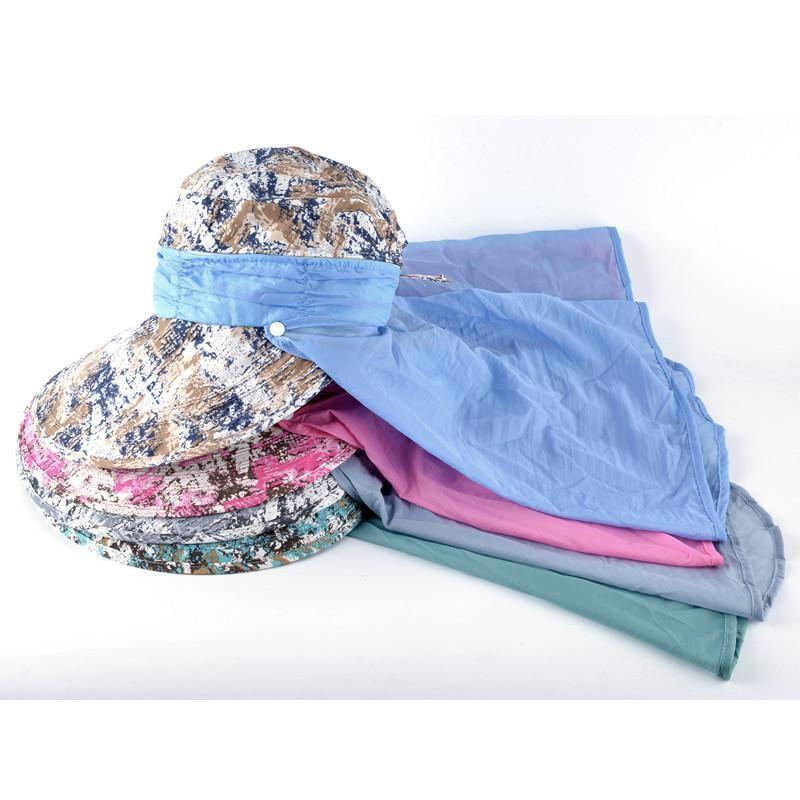 FuzWeb Girls summer sun hats for women folding wide brim visor cap ladies beach  anti 54df74730356