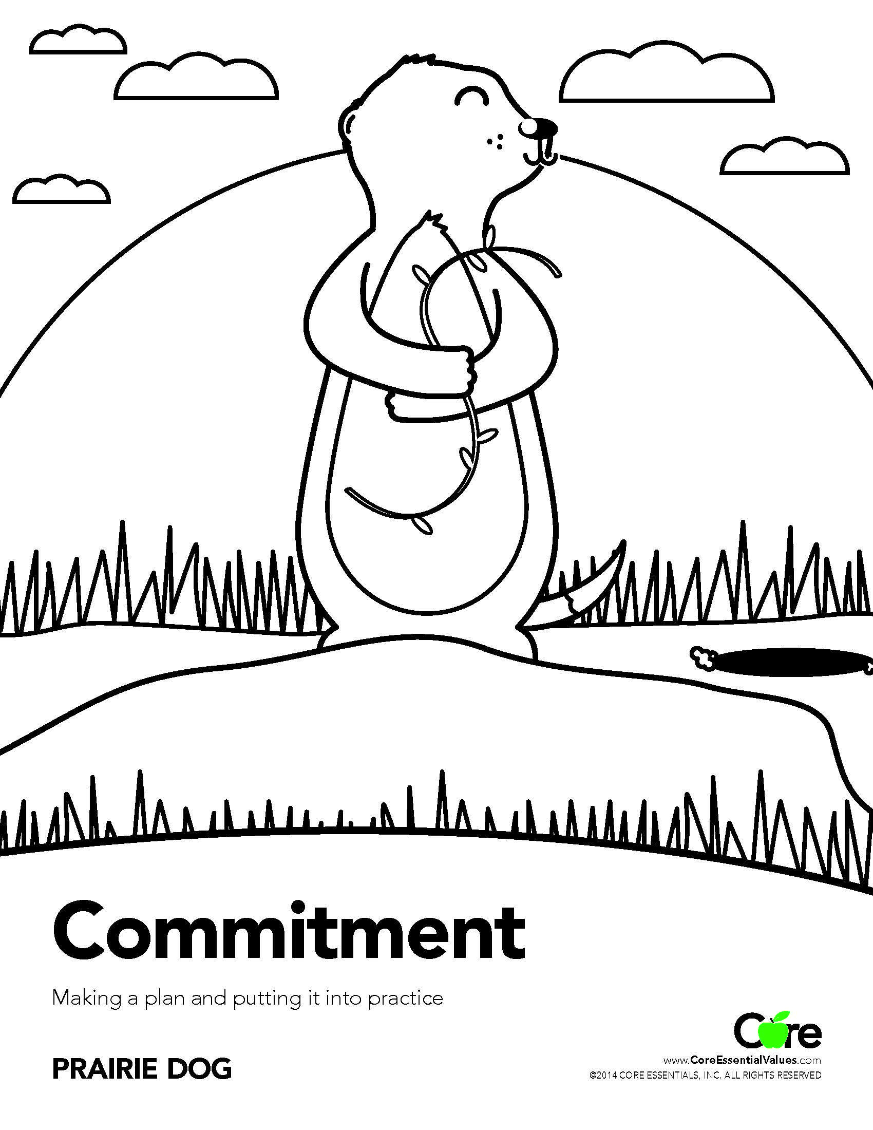 Commitment Coloring Sheet Core Values Honesty Commitment