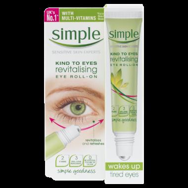 Simple Kind to Eyes Revitalising Eye Roll On 15ml Eye