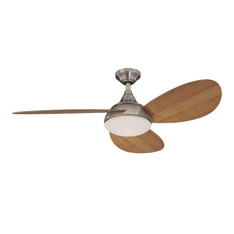 Shop Harbor Breeze 52 In Avian Brushed Nickel Ceiling Fan With Light Kit At Lowes Com Brushed Nickel Ceiling Fan Ceiling Fan With Light Fan Light