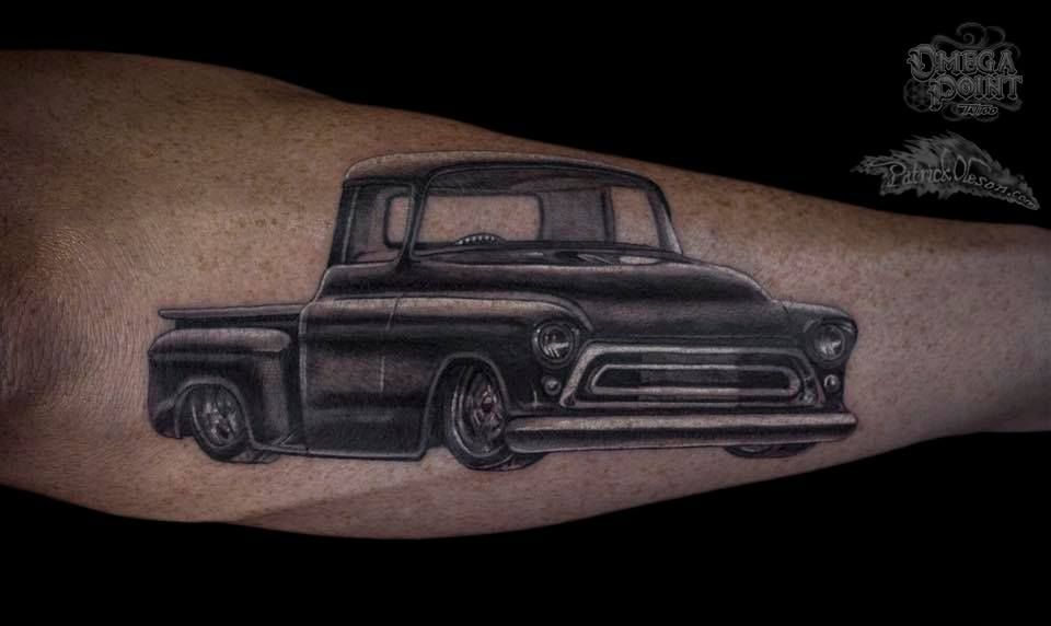 Vintage Box Chevy Tattoo Because The Clics Never By Patrick Oleson Omega Point Omaha Ne