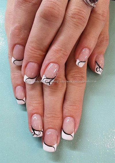 20 French Gel Nail Art Designs Ideas Trends Stickers 2014 Gel Nails Gel Nail Art Gel Nail Art Designs French Tip Nails