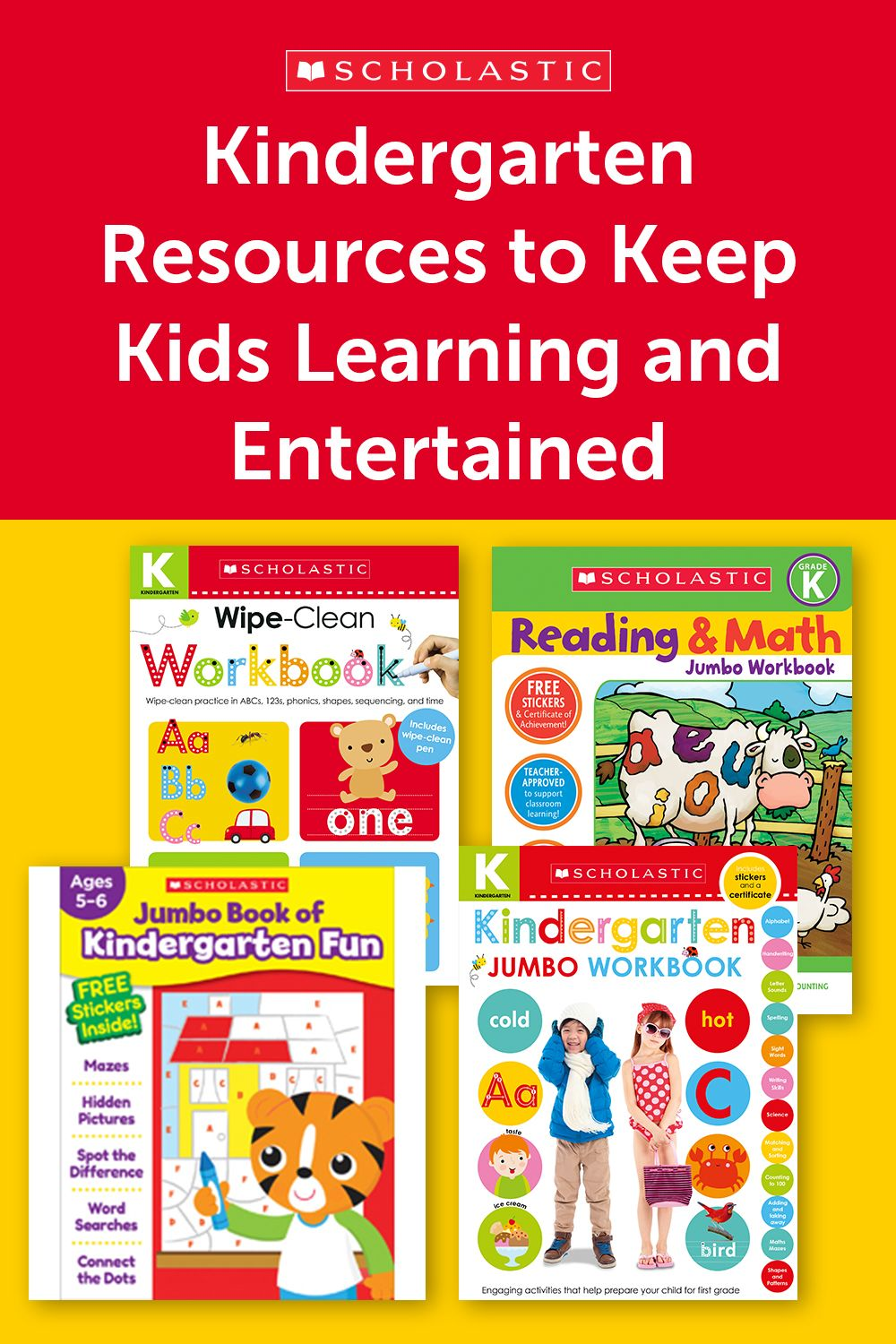 A Collection Of Scholastic Workbooks And Activities To Keep