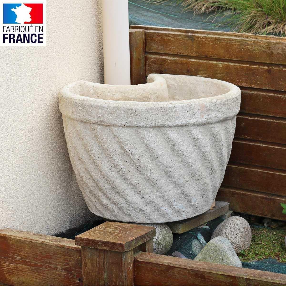 Pot De Fleur Haut Pas Cher lot de 2 pots de fleurs cache gouttière en pierre