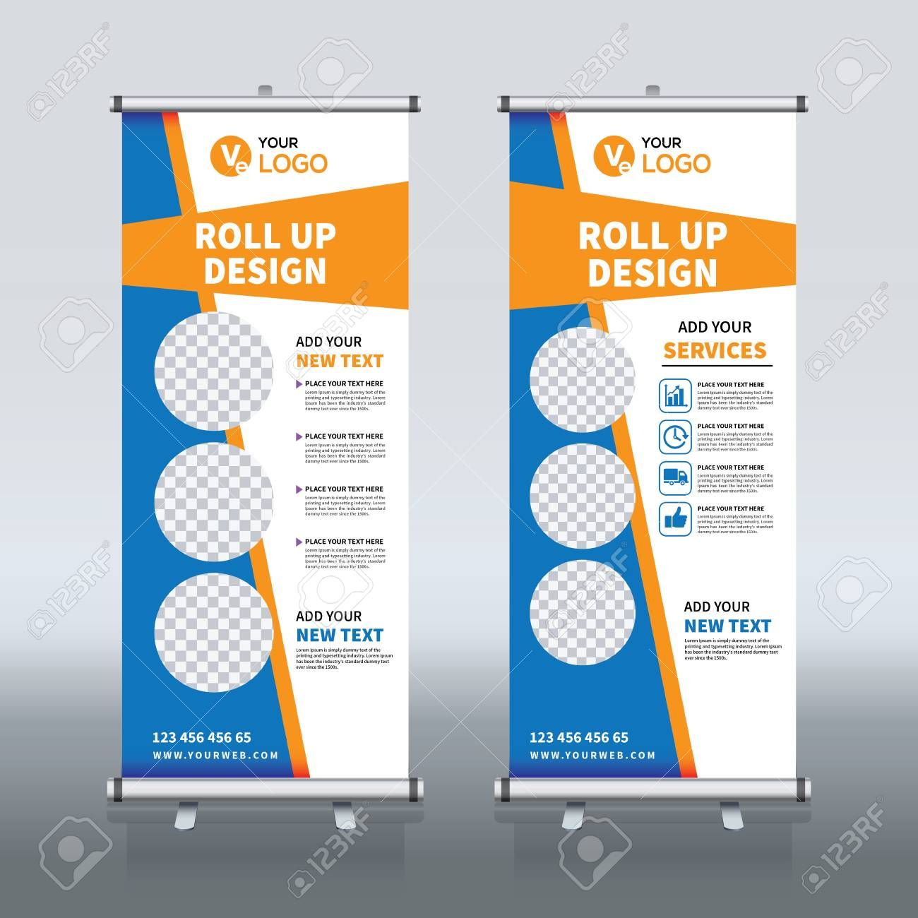 Roll Up Banner Design Template Vertical Abstract Background Pull Up Design Modern X Banner Rectangle Si Banner Template Design Banner Design Pop Up Banner