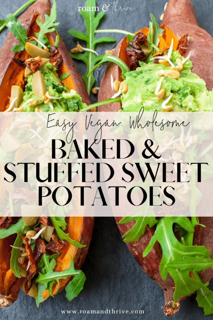 Baked Sweet Potato Jacket Recipe Plant Based And Vegan In 2020 Sweet Potato Jacket Sweet Potato Toppings Best Baked Sweet Potato