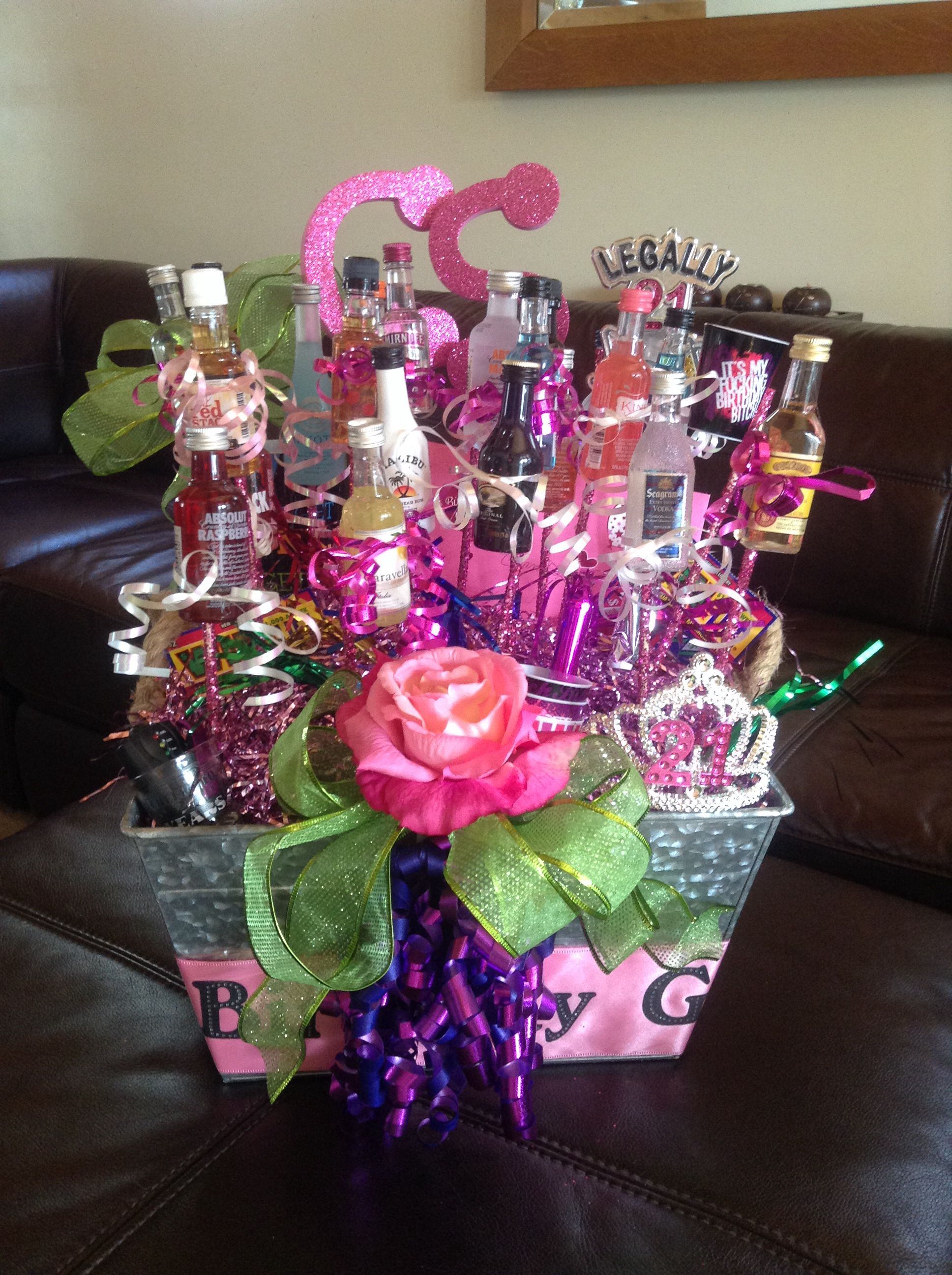 Happy 21st Birthday Gift Basket for my daughter! (With
