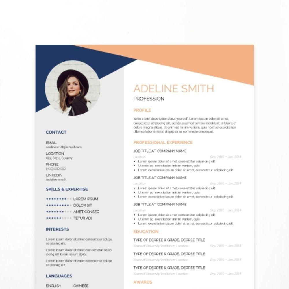 Artistic Cv Template Resume Design Creative Cv Template Resume Design