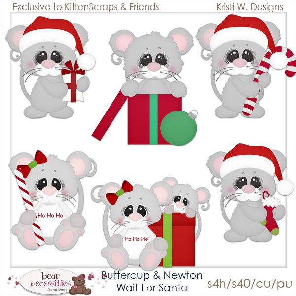 Buttercup  Newton Wait for Santa Exclusive Templates {CU}  Kitten
