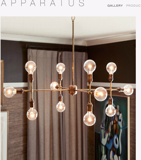 mod & traditional chandelier
