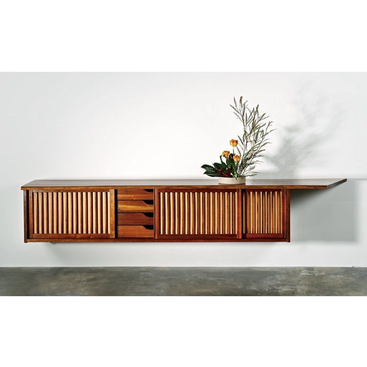 #georgenakashima #wallcase #sideboard #perfection #1963 #modern #american #furniture #woodworker #midcentury