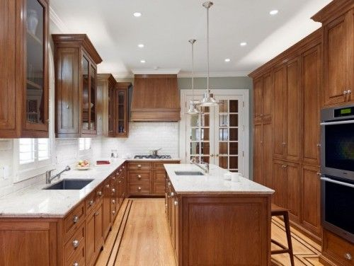 Oak Cabinets Design Ideas Pictures Remodel And Decor Medium Wood Kitchen Cabinets Brown Kitchen Cabinets White Countertops
