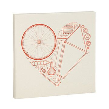 Look what I found at UncommonGoods: Bike Parts Heart Print for $50.00