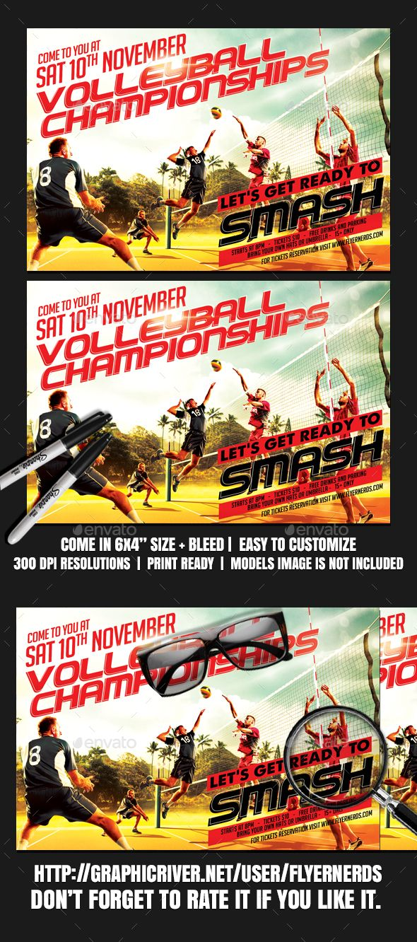 volleyball championships sports flyer volleyball flyer template