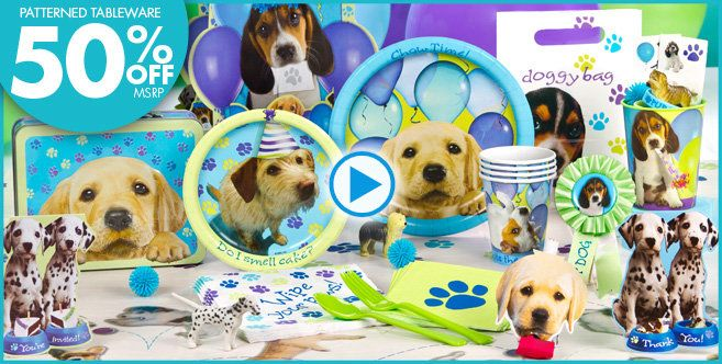 Puppy Party Supplies Kids Birthday Party Decoration Puppy Birthday Parties Paw Patrol Birthday Party