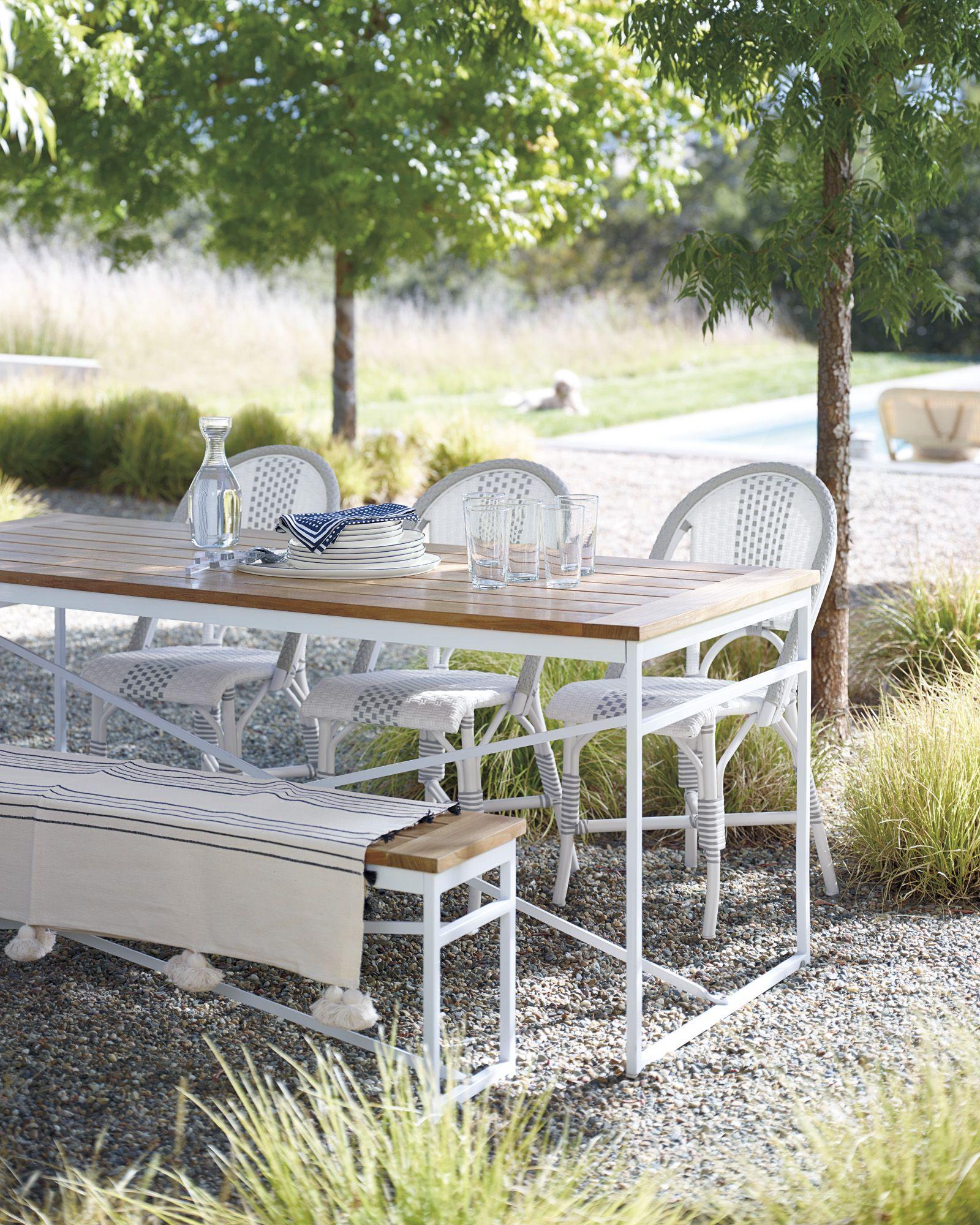 Teak Garden Table In 2020 Outdoor Side Chairs Teak Garden Bench