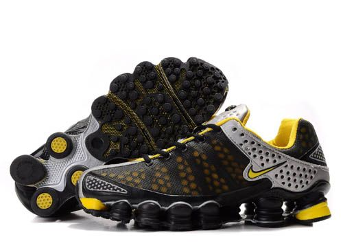 arriving unique design fashion style inexpensive neon jaune nike shox 9af30 50463
