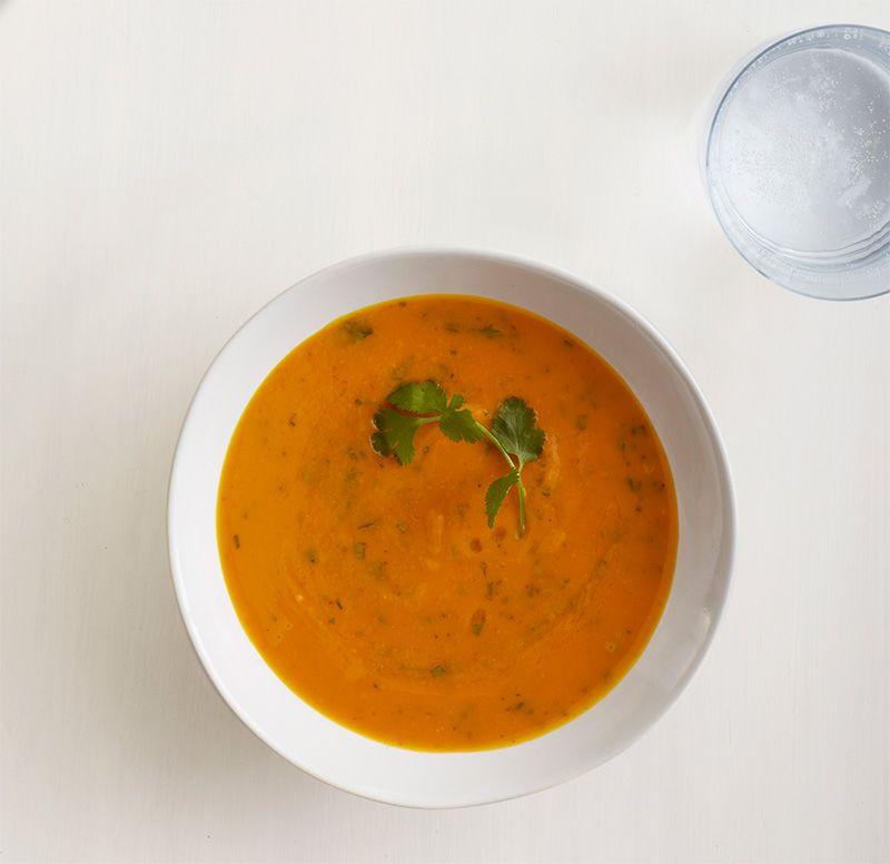 Roasted Sweet Potato and Garlic Soup Recipe.