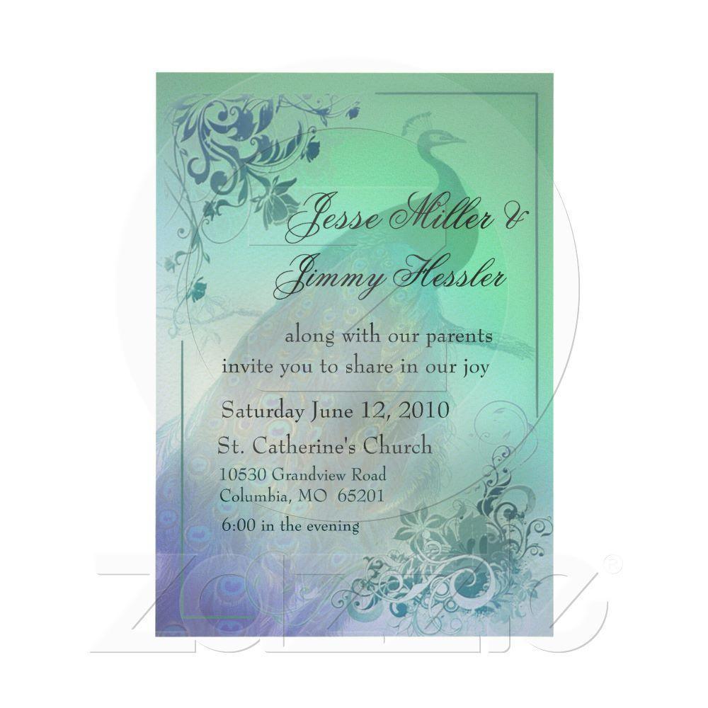 Invitations wedding ideas pinterest peacock theme wedding and