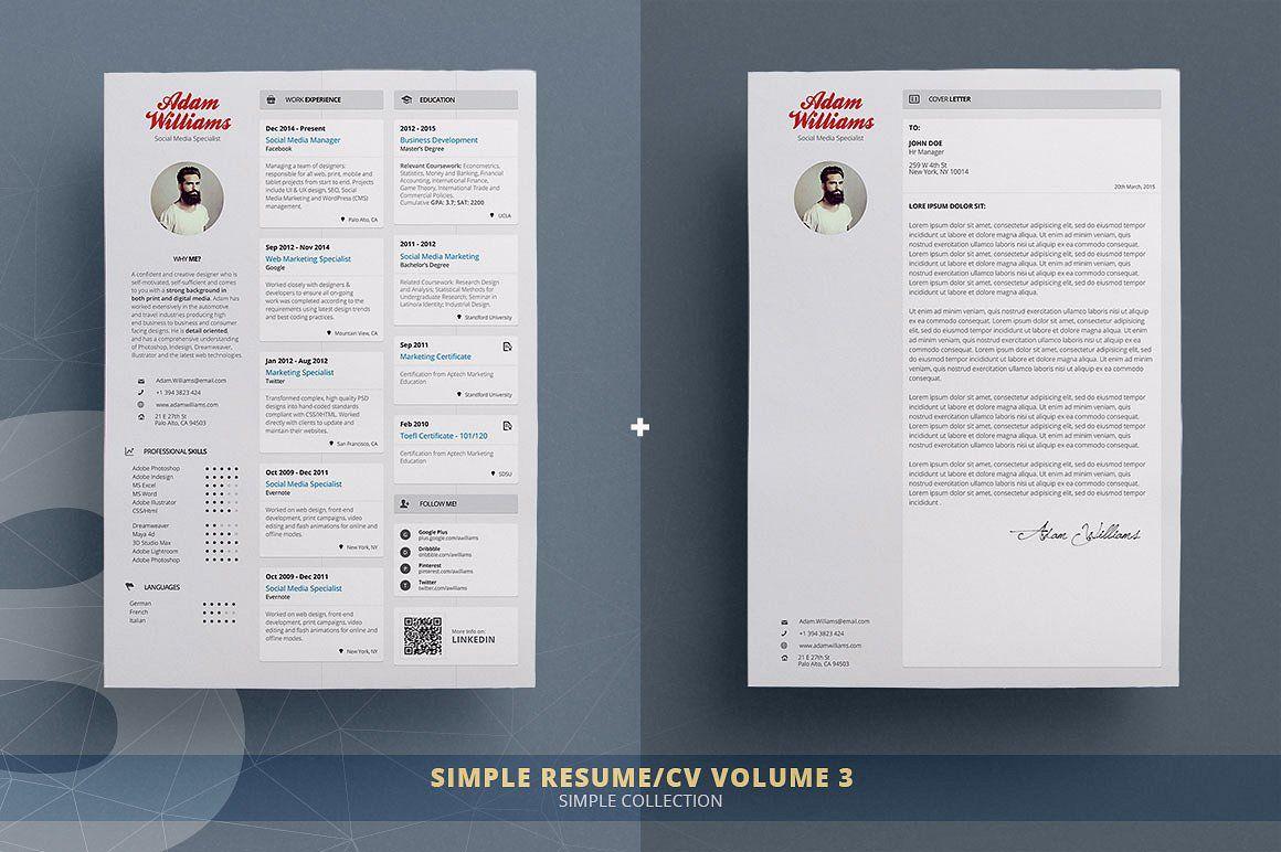 Resume/Cv Bundle Simple Collection
