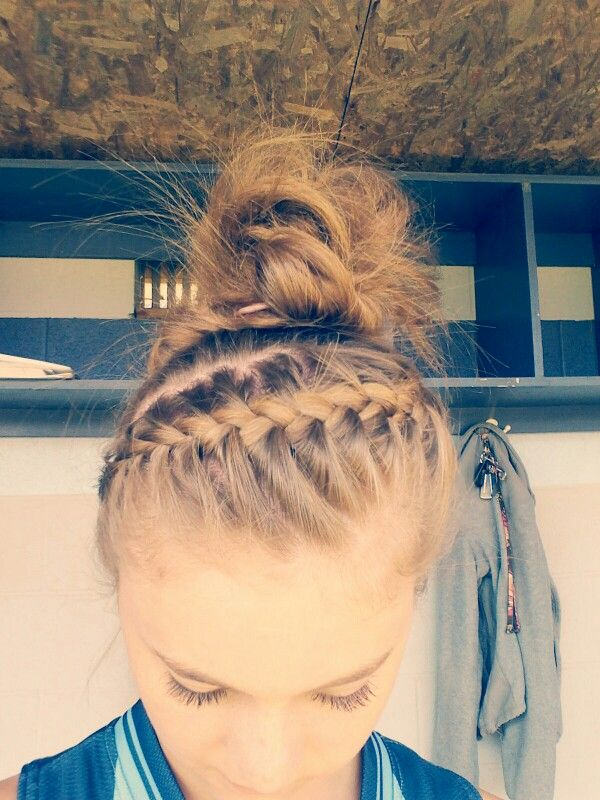 Pin By Christy Thompson On Hairstyles Sports Hairstyles Small Hair Style Girl Volleyball Hairstyles