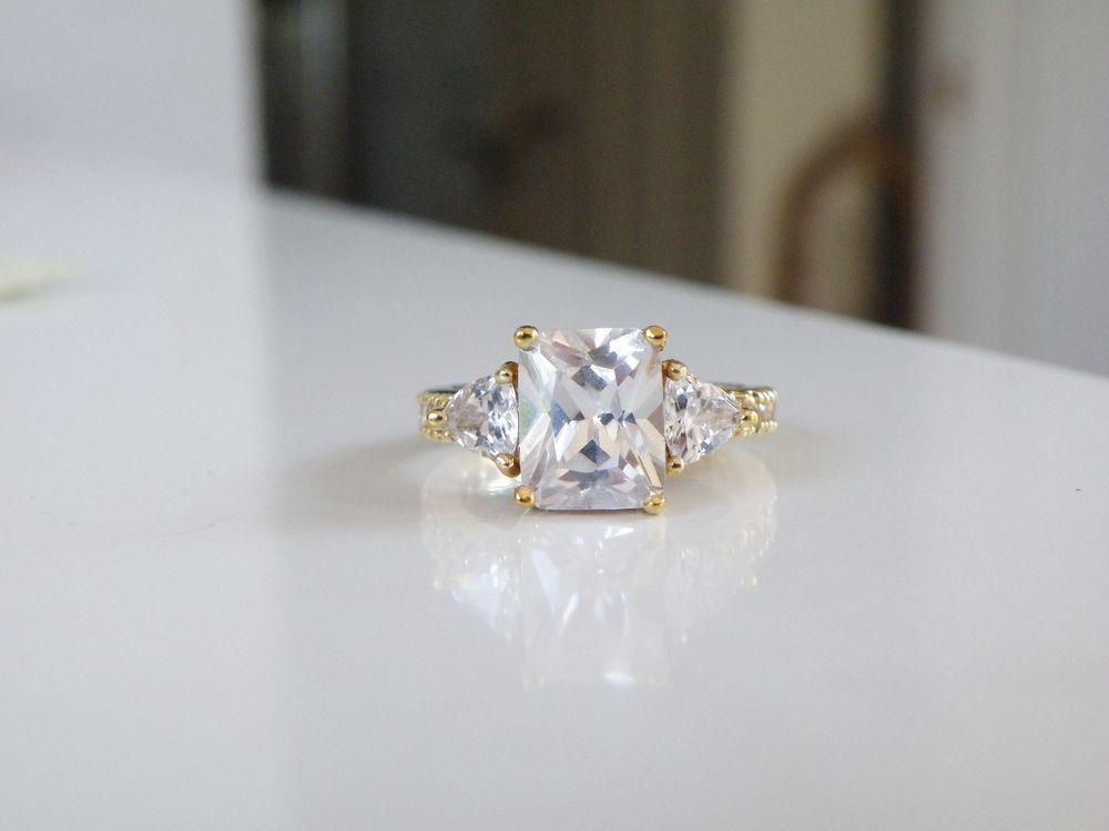 Tressa Collection Sterling Silver 18k Eternity Sim Diamond
