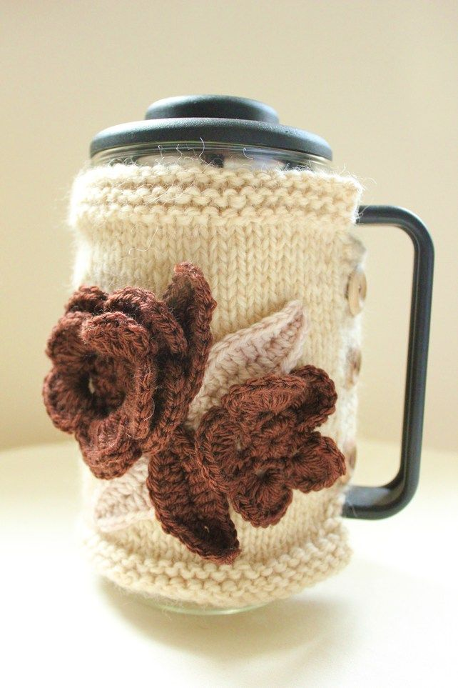 Cafetiere Bodum Coffee Pot Cosy Cover In Organic Wool And Alpaca Medium