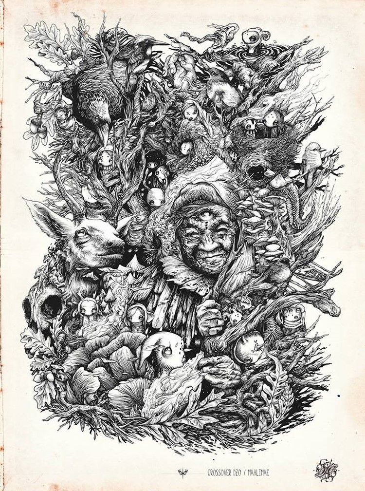 Brilliant Intricate Drawings of DZO Olivier | Drawing ...