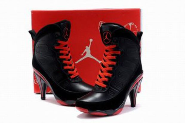 43259ca2dda6 air jordan ix black red high heels boots womens