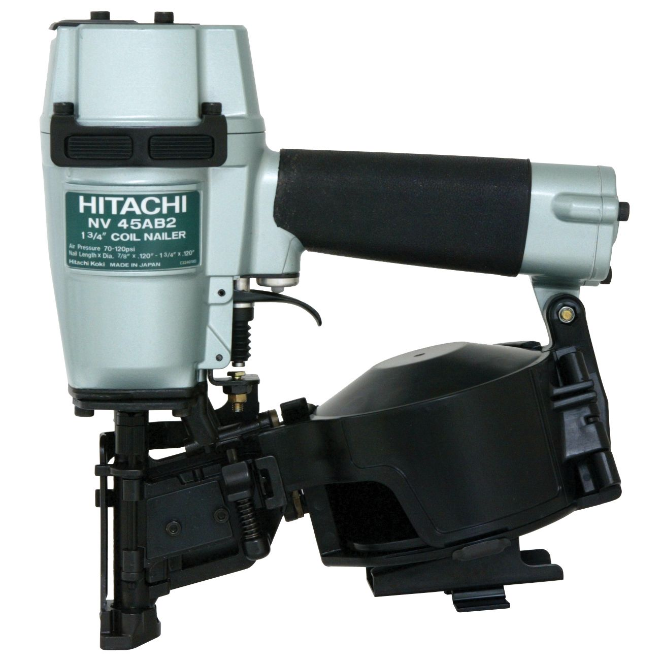 "Hitachi NV45AB2 13/4"" Coil & Roofing Nailer Overstock"