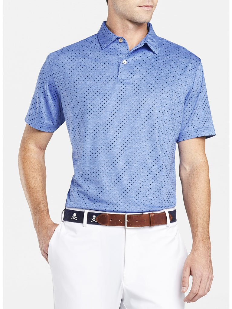Peter Millar Crown Crafted Count Polka Dot Performance Polo Shop