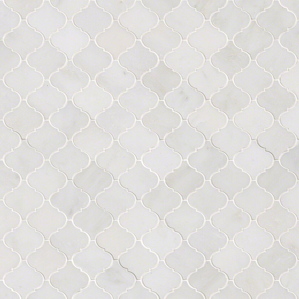 Greecian White Arabesque Pattern Polished Marble Backsplash Tile Marble Tile Backsplash Backsplash Arabesque Marble Backsplash