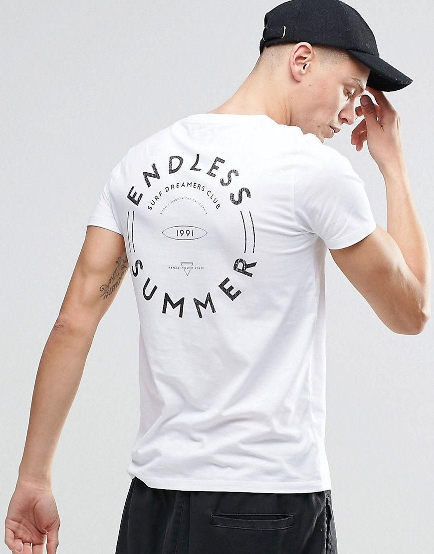 3cac1edfdeac ASOS T-Shirt With Endless Summer Back Print.