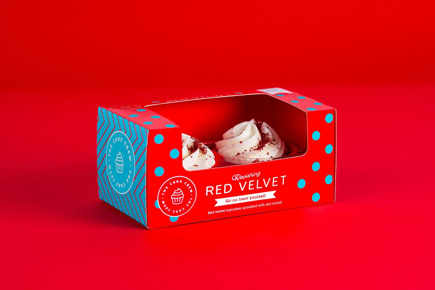 Indulge Your Sweet Tooth With The Cake Crew Cupcake Packaging Packaging Design Vanilla Cupcakes