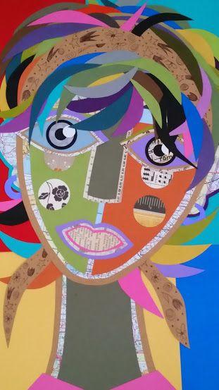 """""""Paper portrait"""" - Collage"""