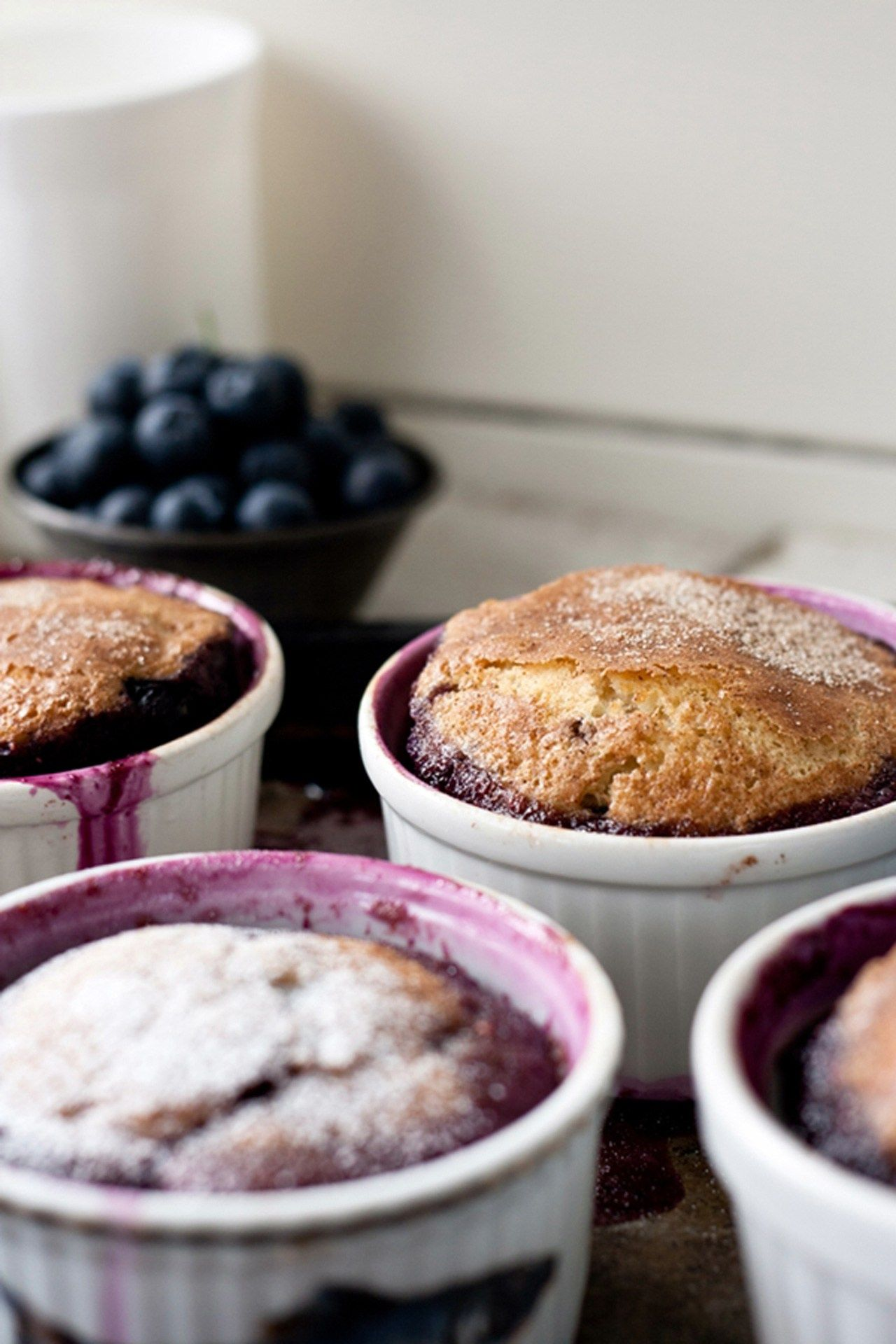 Recipe. warm blueberry cakes