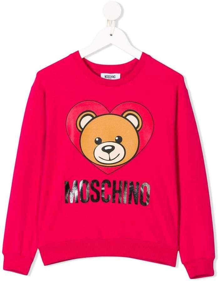 648ed3fa2 Moschino Kids TEEN teddy bear print sweatshirt   Products   Printed ...