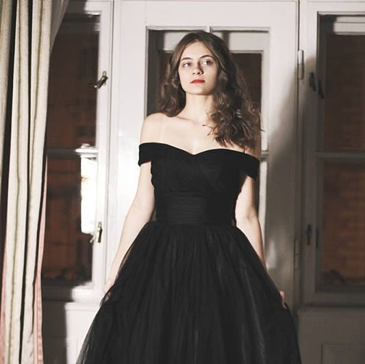 Prom ball dress, Black Tulle corset dress - Evening gown ...