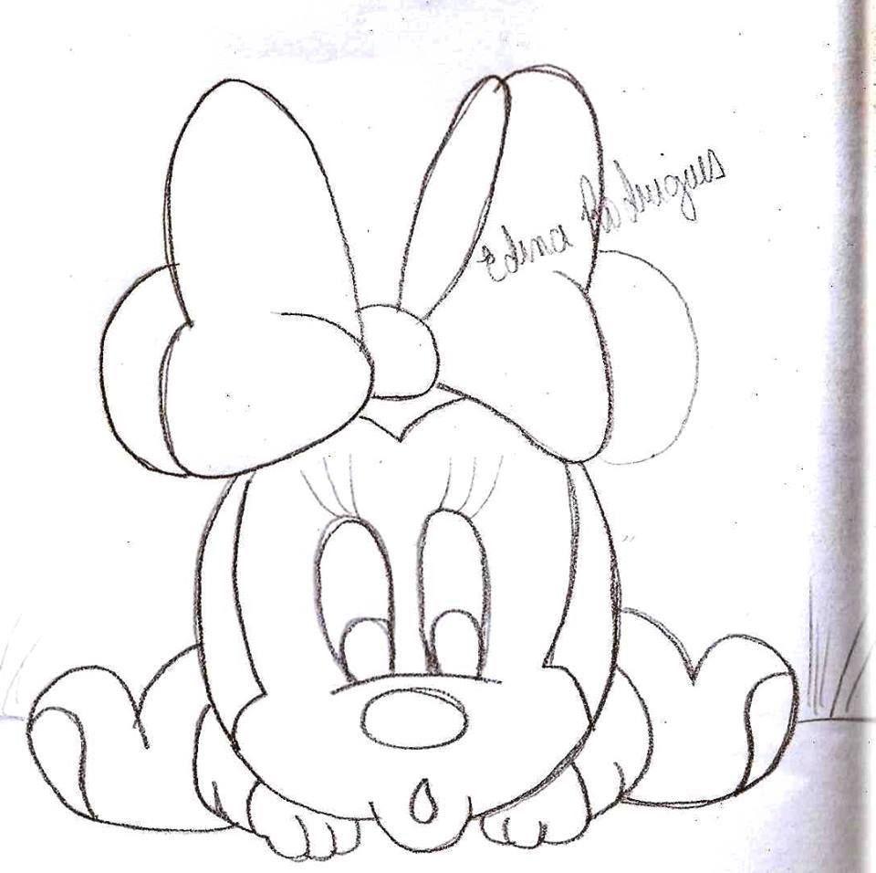 Ausmalbilder Baby Micky Maus : Minnie Baby Applique Pinterest