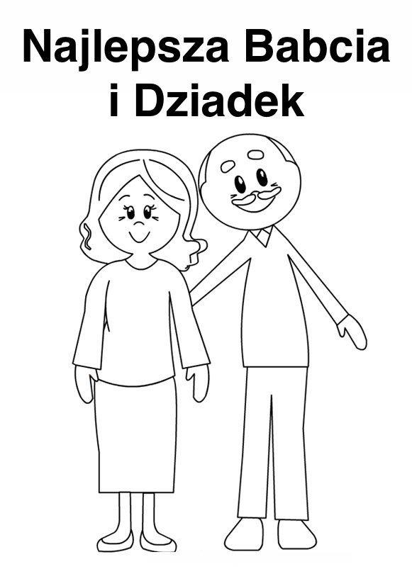 Laurki Do Kolorowania Na Dzien Babci I Dziadka Dla Przedszkolakow