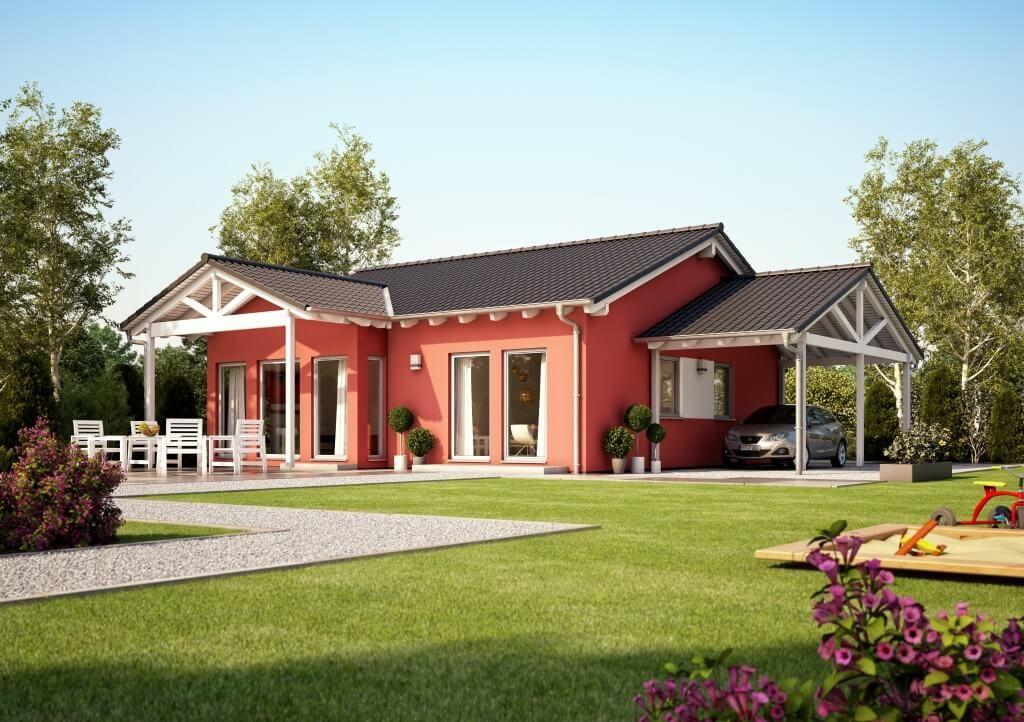 solution 78 v2 living haus fertighaus mit satteldach. Black Bedroom Furniture Sets. Home Design Ideas