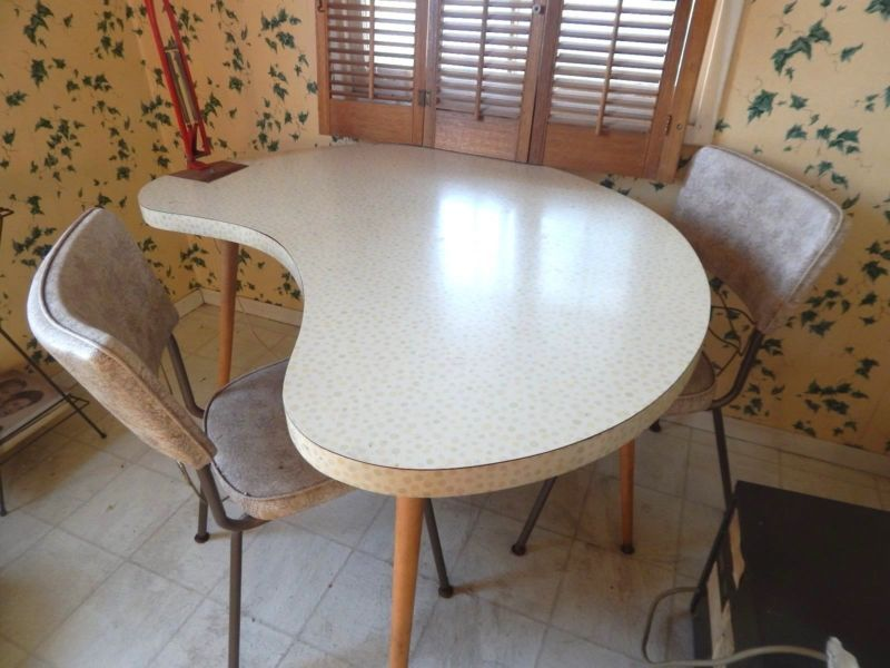 Vtg Mid Century Modern Atomic Kitchen Dining Table 50 S Kidney Biomorphic Googie Dining Table Dining Table In Kitchen Table