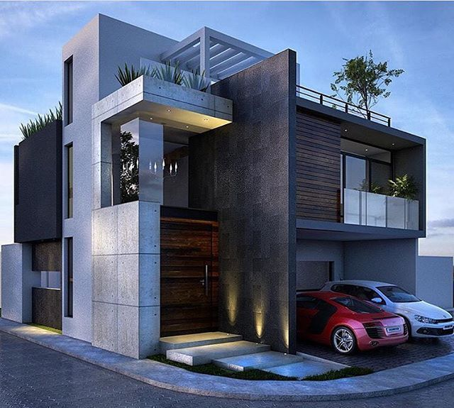 l #minimalism #contemporaryart House Elevation Modern Box