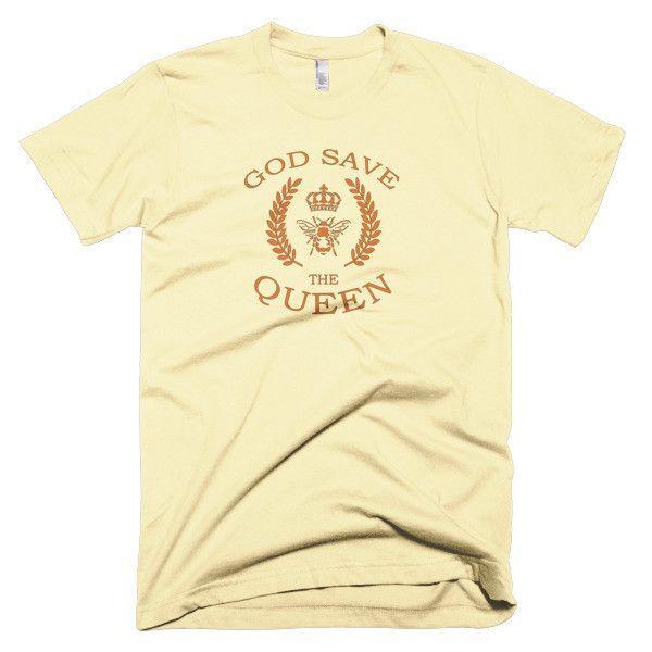 God Save The Queen Bee Lovers Short Sleeve Men's T-Shirt