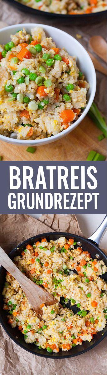 Schnelles Bratreis Grundrezept - kochkarussell.com #vejetaryentarifleri